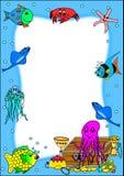 Feld mit Fischen und Piratenschatz Lizenzfreie Stockbilder