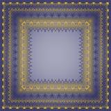 Feld mit Goldmuster auf einem blauen Hintergrund Stockfotos