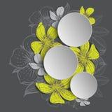 Feld mit Hand gezeichneten Blumen Stockfoto