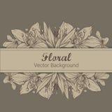 Feld mit Hand gezeichneten Blumen Lizenzfreie Stockbilder