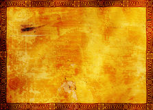 Feld mit indianischen traditionellen Mustern Lizenzfreies Stockfoto