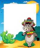 Feld mit mexikanischem Esel Stockfoto