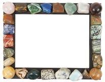 Feld mit Mineralsteinen Stockbild