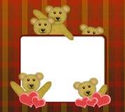 Feld mit netten Teddybären Stockbild