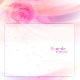 Feld mit rosafarbenem Plan Lizenzfreie Stockfotos