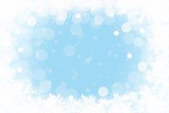 Feld mit Schneeflocken Stockfotografie