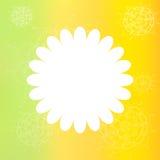 Feld mit von Hand gezeichneten Blumen auf unscharfem Hintergrund Lizenzfreies Stockbild
