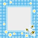 Feld oder Grenze mit lustigen Bienen Lizenzfreies Stockfoto
