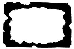Feld (Schwarzes gebranntes Papier) Stockbild