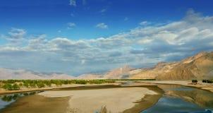 Feld in Tibet Stockbild