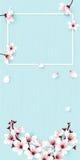 Feld und Blumen auf Blau vektor abbildung