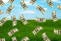 Feld und Dollar Stockbild