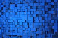 Feld von blauen Würfeln 3d 3d übertragen image Stockbilder