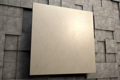 Feld von braunen quadratischen Platten mit Steinbeschaffenheit Stockbilder