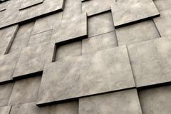 Feld von braunen quadratischen Platten mit Steinbeschaffenheit Stockbild