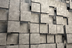 Feld von braunen quadratischen Platten mit Steinbeschaffenheit Stockfoto