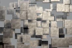 Feld von braunen quadratischen Platten mit Steinbeschaffenheit lizenzfreie abbildung