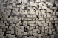 Feld von braunen quadratischen Platten mit Steinbeschaffenheit Lizenzfreie Stockfotografie