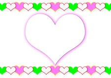 Feld von den Herzen und vom großen Herzen stockfotografie