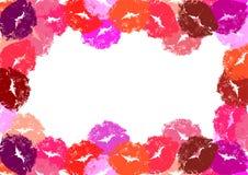 Feld von den Lippendrucken Stockfoto