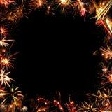 Feld von Feuerwerken Lizenzfreie Stockbilder