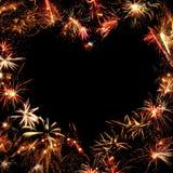 Feld von Feuerwerken Lizenzfreie Stockfotos