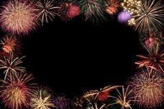 Feld von Feuerwerken stockfotografie