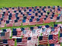 Feld von Flaggen Lizenzfreies Stockfoto