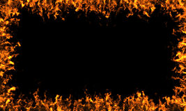 Feld von Flammen Stockfotos