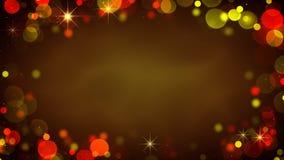 Feld von glühenden undeutlichen Lichtern Abstrakter Hintergrund des Feiertags Lizenzfreie Stockfotos