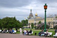 Feld von Mars im im Stadtzentrum gelegenen St. Petersburg Lizenzfreies Stockbild