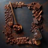 Feld von Schokoladen Stockbilder