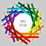 Feld von varicolored Bleistiften Lizenzfreie Stockfotografie