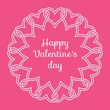 """Feld von verflochtenen Herzen und von Glückwunsch """"glückliches Valentinsgruß ` s DayÂ"""" Stockfotografie"""