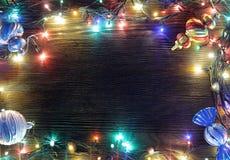 Feld von Weihnachtslichtern Lizenzfreie Stockbilder