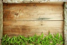 Feld wird vom Holz gemacht und verlässt Lizenzfreie Stockfotografie