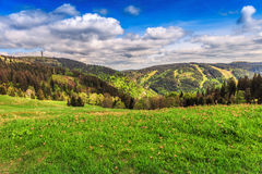Feldberg-Berg im Frühjahr Lizenzfreie Stockfotos