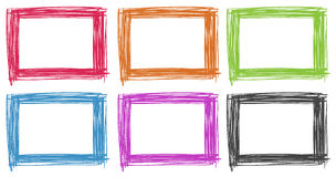 Felddesign in den verschiedenen Farben Stockfotografie
