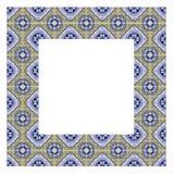 Feldentwurf mit typischen portugiesischen Dekorationen nannte azulejos stockfoto