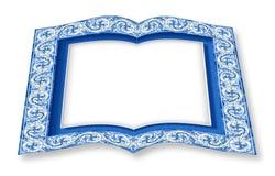 Feldentwurf mit typischen portugiesischen Dekorationen nannte azulejos - Konzeptbild der Wiedergabe 3D eines geöffneten Fotobuche vektor abbildung