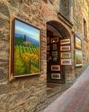 Felder auf der Wand stockfoto