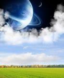Felder eines weiten Planeten Stockfotografie