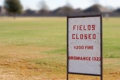 Felder geschlossen Stockfoto