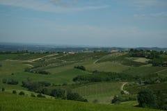 Felder im Apennines von Bolognese Stockfotografie