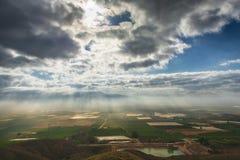 Felder kultiviert in Murcia, Spanien stockbild