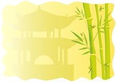 Felder mit Bambus Stockbilder