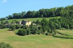 Felder in Nord-Italien Lizenzfreies Stockfoto