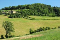 Felder in Nord-Italien Lizenzfreie Stockfotografie