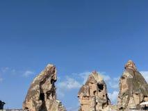 Felder und Ansichten in cappadocia stockbilder