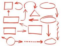 Felder und arrowse Stockfoto